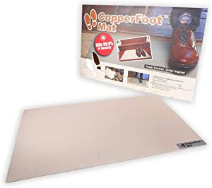 CopperFoot Mat - Real Copper Antibacterial Floor Mat Kills 99.9% of Bacteria ON Contact - EPA 100% Recyclable - Perfect Mat for Kitchen, Entryway, Office, Home, Front Door, Pet Door