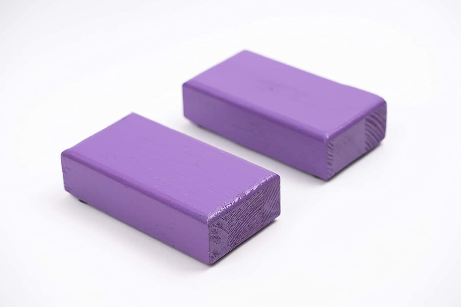 set of 2 blooks Hardwood Handstand Blocks Gymnastics Yoga Circus Parallettes Handstand Blocks for yoga and fitness Non slip Bottoms