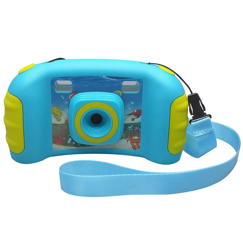HowLoo Creative Camera for Children's 1.77-inch Game Digital Camera HD Motion Camera (Blue) by HowLoo (Image #6)