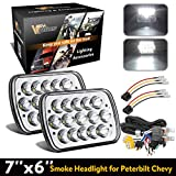 88 nissan pickup - 2PCS 7x6 5x7 inch Led Headlights 6054 H6054 w/ H4 Headlight Relay Harness Sealed Beam Toyota 95-97 Tacoma 88-95 Pickup Chevy Express Van Nissan