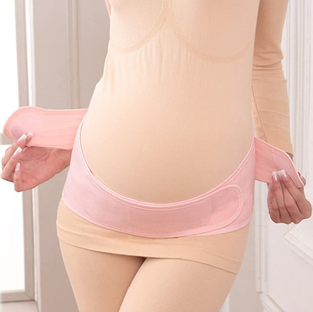 Maternity Belt Pregnancy Support Waist Abdomen Belly Band for Running /& Exercising Abdominal Pain Pink Lower Back Pain| Postpartum Recovery by Sagton