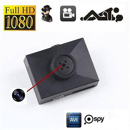 Electro-Weideworld - 1080P Botón mini cámara espía ocultos Cámara DVR Mini videocámaras Cámara