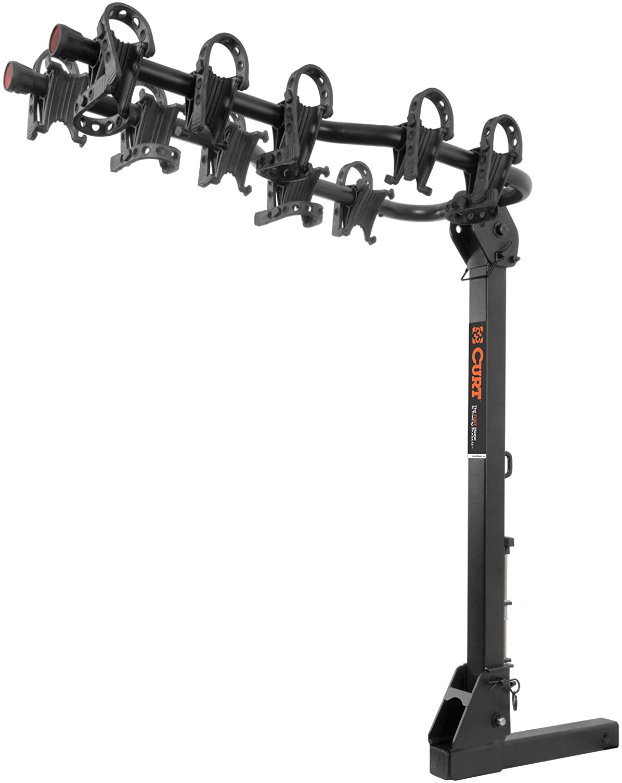 CURT 18065 Premium Trailer Hitch Bike Rack Mount, Fits 2-Inch Receiver, 5 Bicycles