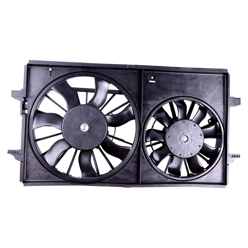 SCITOO Cooling Fan Assembly Compatible with 2004-2012 Chevrolet Malibu Pontiac G6 Saturn Aura GM3115178 104457-5206-0942103561