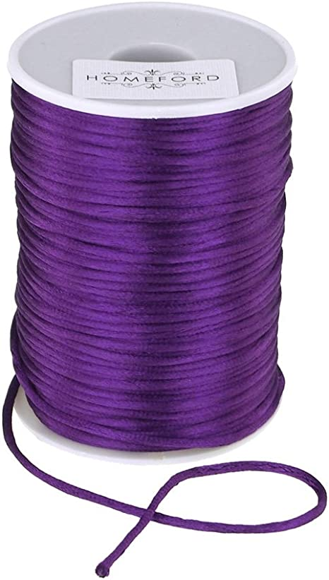 Lavender 1//16-Inch Homeford Satin Rat Tail Cord Ribbon Chinese Knot 100-Yard
