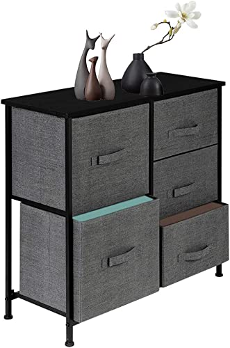 Tall Dresser Tower Non-Woven Fabric Storage Drawer Unit