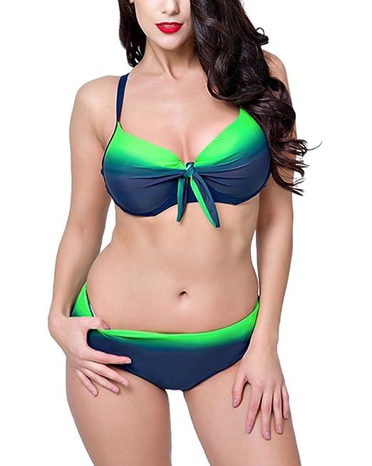 PengGengA Mujer Bikini Bañadores Push Up Tallas Grandes ...