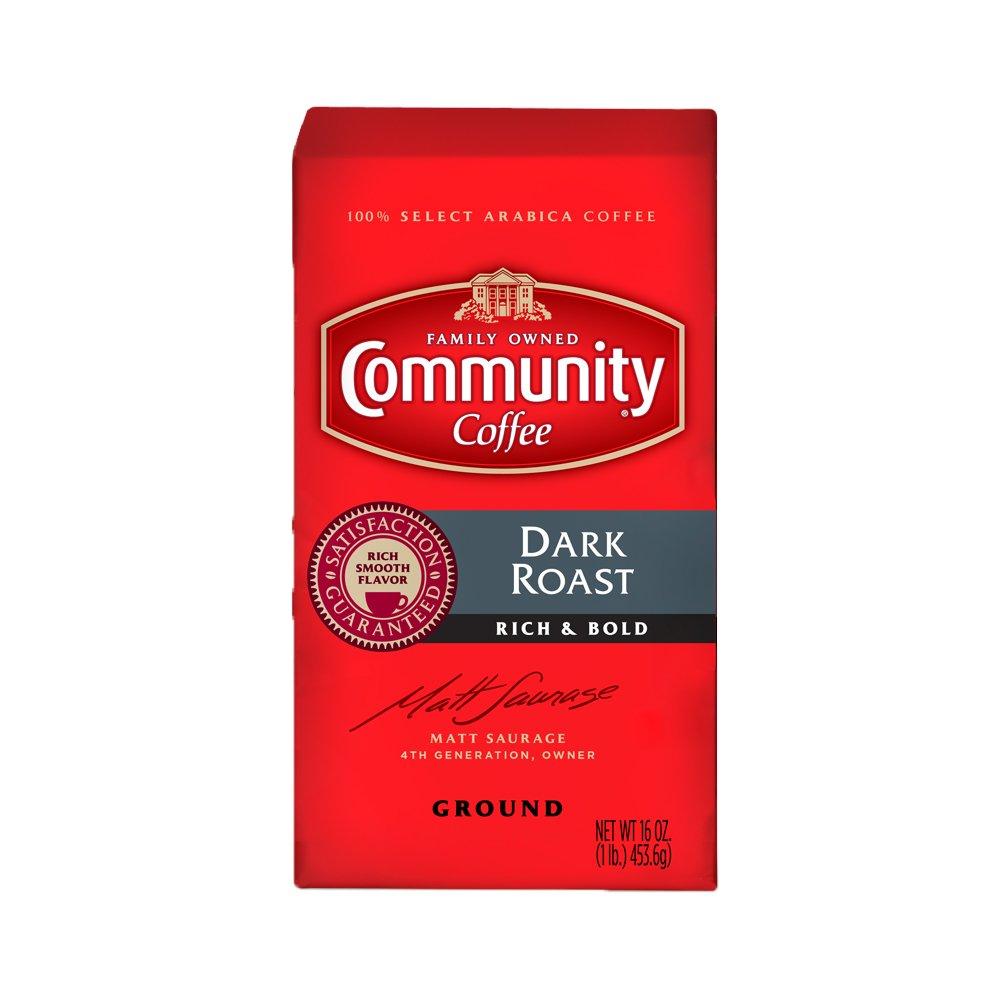 Community Coffee Premium Ground Dark Roast, 16 oz., 10 Count by Community Coffee