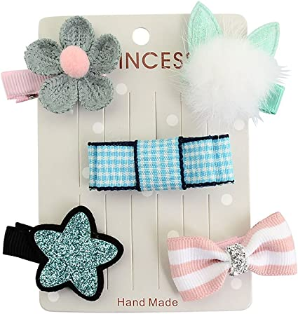 PET SHOW Gorgeous Pet Dog Hair Bow Clips Hair Bows for Baby Girls Hair Alligator Clips for Cat Pack of 5