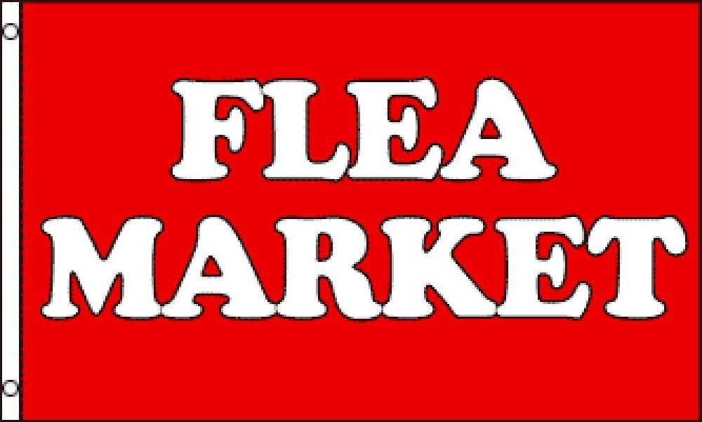 FLEA MARKET  3/' x 5/' Polyester Flag DELUXE