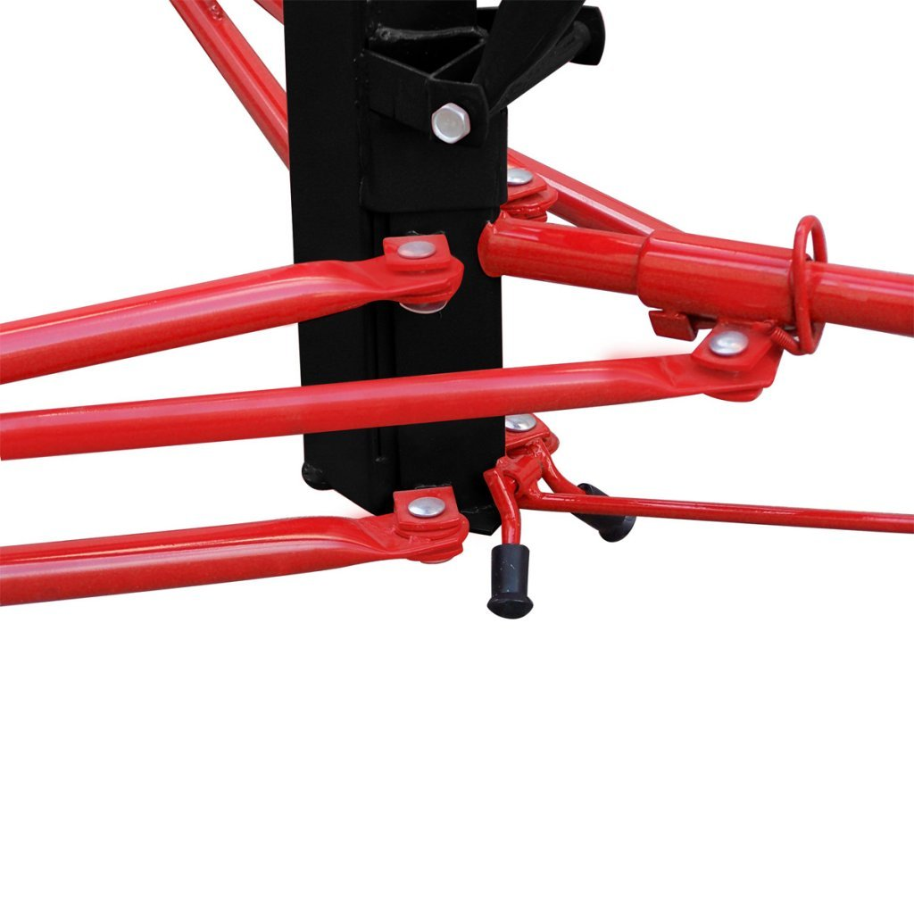 Red Festnight 11FT Heavy Duty Steel Drywall Lift Ceiling Board Lifter with Capacity 150lbs// 68kg