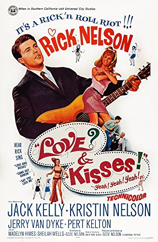 Posterazzi Love and Kisses Us Art Ricky Nelson 1965. Movie Masterprint Poster Print (11 x 17)