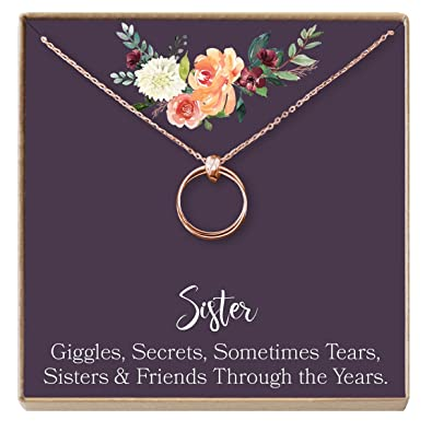 Amazon Com Sisters Necklace Sister Gift Gift For Sister Sister