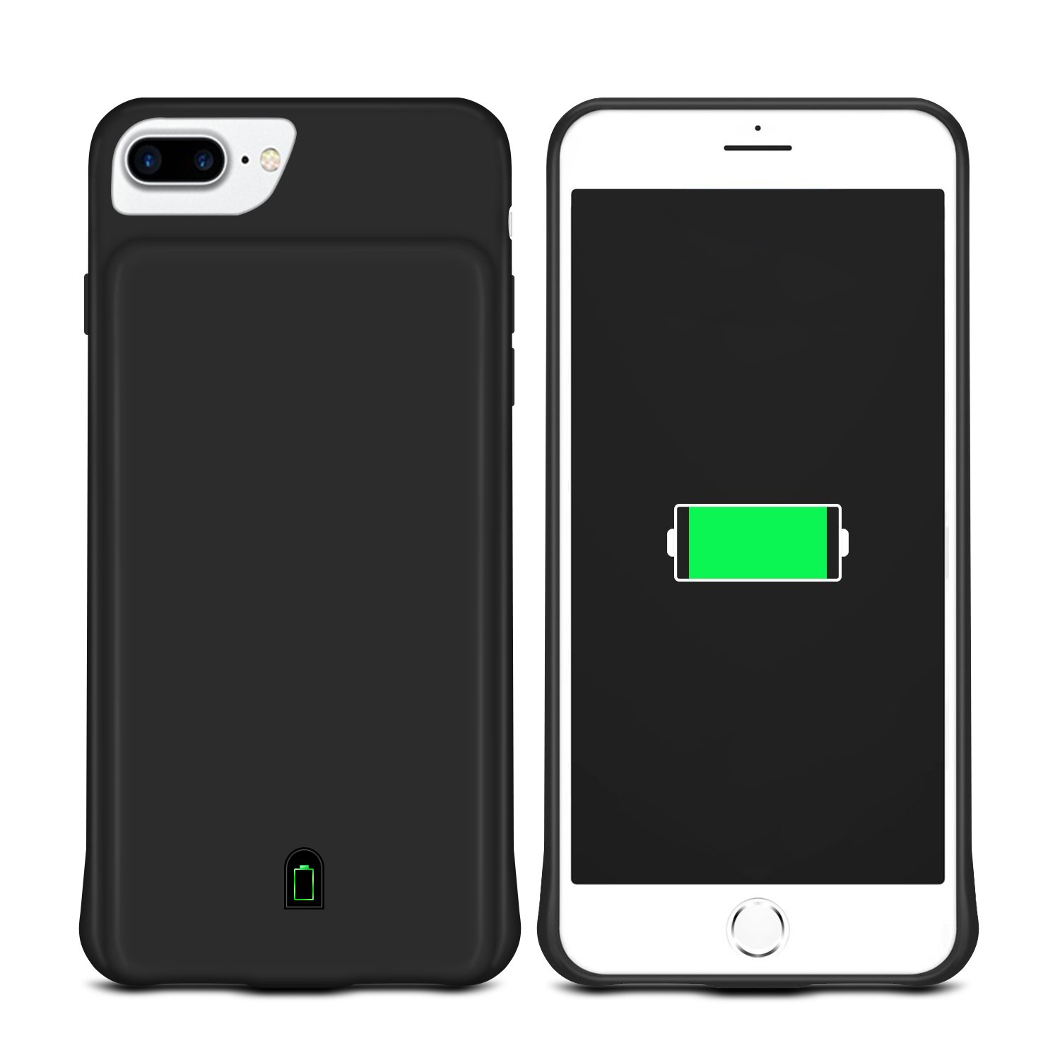 Coslight 7000mAh Capacity Support Headphones Ultra Slim Extended Battery Rechargeable Protective Portable Charger 5.5'' ,For iPhone 8 Plus / 7 Plus / 6s Plus / 6 Plus Battery Case, Black