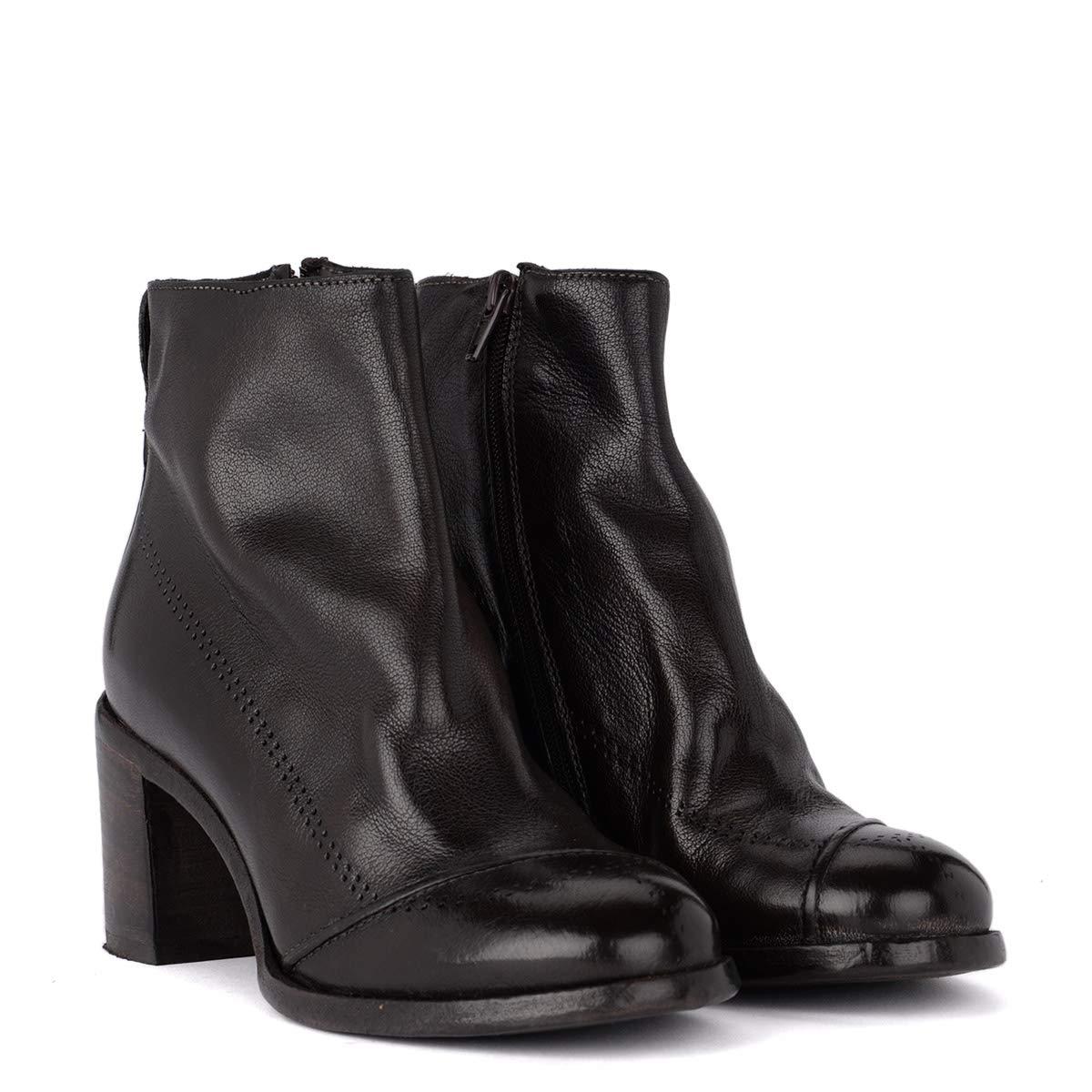 MOMA Stiefeletten Bufalo Aus Leder Größe Braun, Größe Leder Uk  d1668e