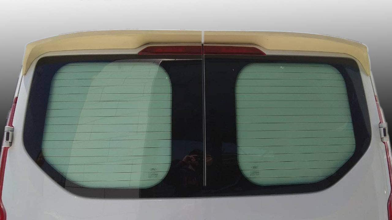 TVA Styling PU Rear Roof Twin Door Spoiler No Drilling Required Compatible With Transit Custom