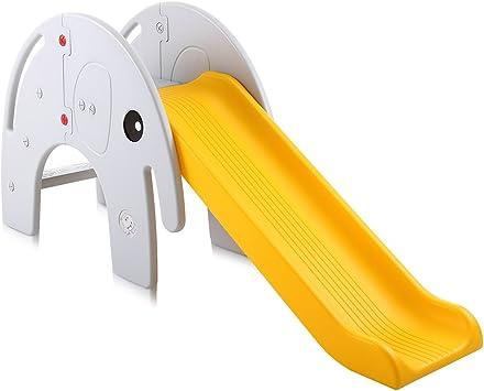 Baby Vivo Tobogán Parque para Infantil Niños Recto Diapositiva Interior y Aire Libre Juguetes Jardín Elefante Amarillo / Gris: Amazon.es: Hogar