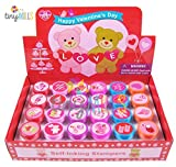Tiny Mills 24 Pcs Valentine's Day Stampers for Kids