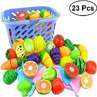 YeahiBaby Alimentos de Juguete para Cocina Frutas y Vegetales para Niños 23 Piezas