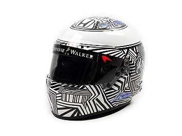 Mini Helmet mh1050 Casco – F. Alonso – McLaren Honda Test Barcelona 2017 – (