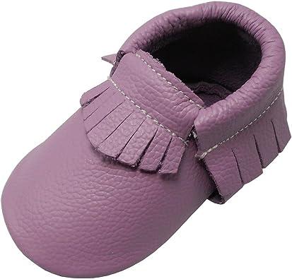 YIHAKIDS Baby Moccasins Genuine Leather