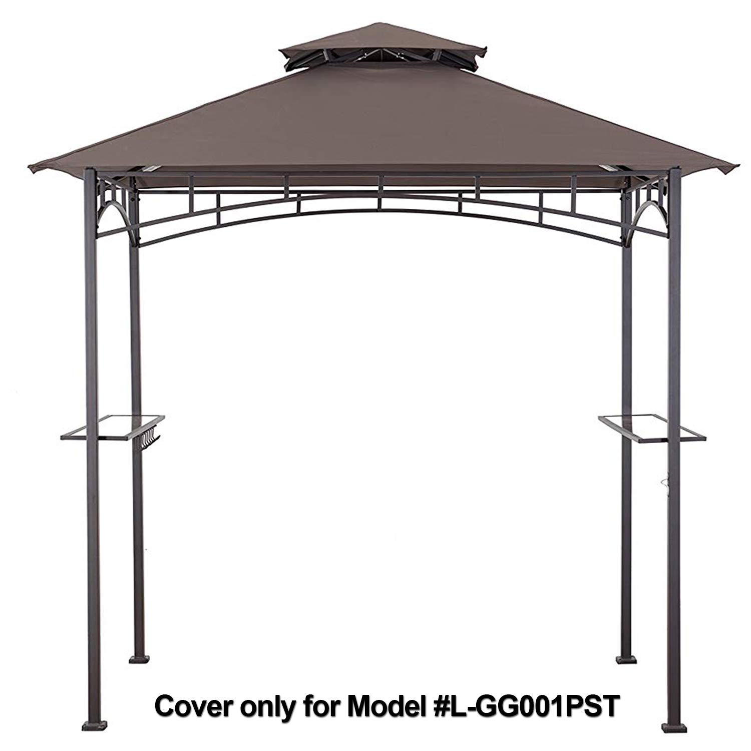 MasterCanopy Grill Gazebo Shelter Replacement Canopy Cover ONLY FIT for Gazebo Model L-GG001PST-F Brown