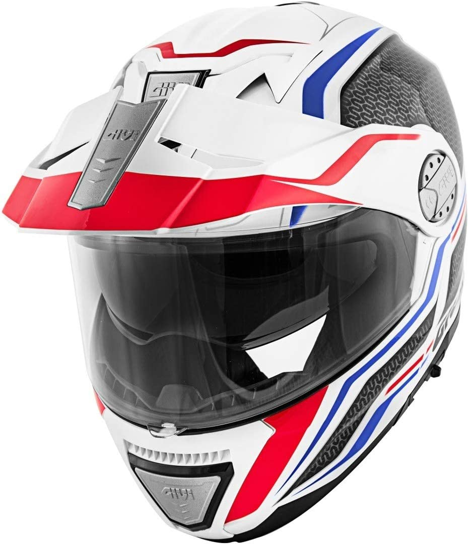 HX33FLYWB54 Givi Hps X33 Full Face Helmet Canyon Graphics Layers White//Red//Blue Size 54//XS