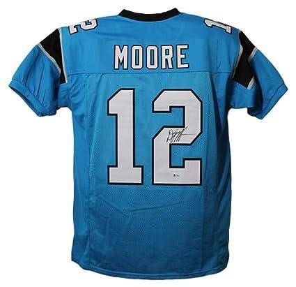 designer fashion ef084 c47a2 DJ Moore Autographed Signed Carolina Panthers XL Blue Jersey BAS