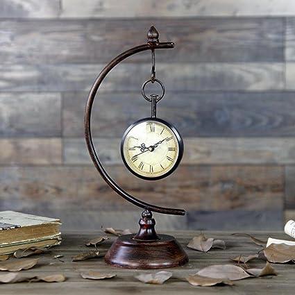 BBSLT Relojes de país, reloj decoración reloj retro dormitorio, el salón reloj modelo manualidades