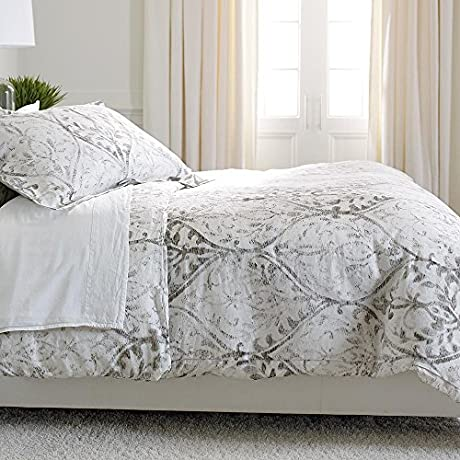 Ethan Allen Tuscan Gate Printed Duvet Cover King