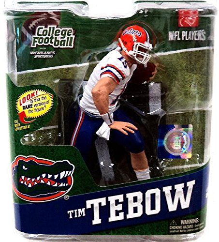- McFarlane Toys Action Figure - NCAA College Football Series 4 - TIM TEBOW (White Jersey)