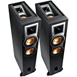 Klipsch Referencia R-26FA Dolby Atmos Altavoces de pie, 100W RMS de potencia en el canal principal, negro, par
