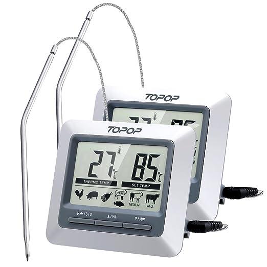 108 opinioni per [2 Pezzi] Termometro da Cucina e Timer,Termometro Letto-istante per Barbecue