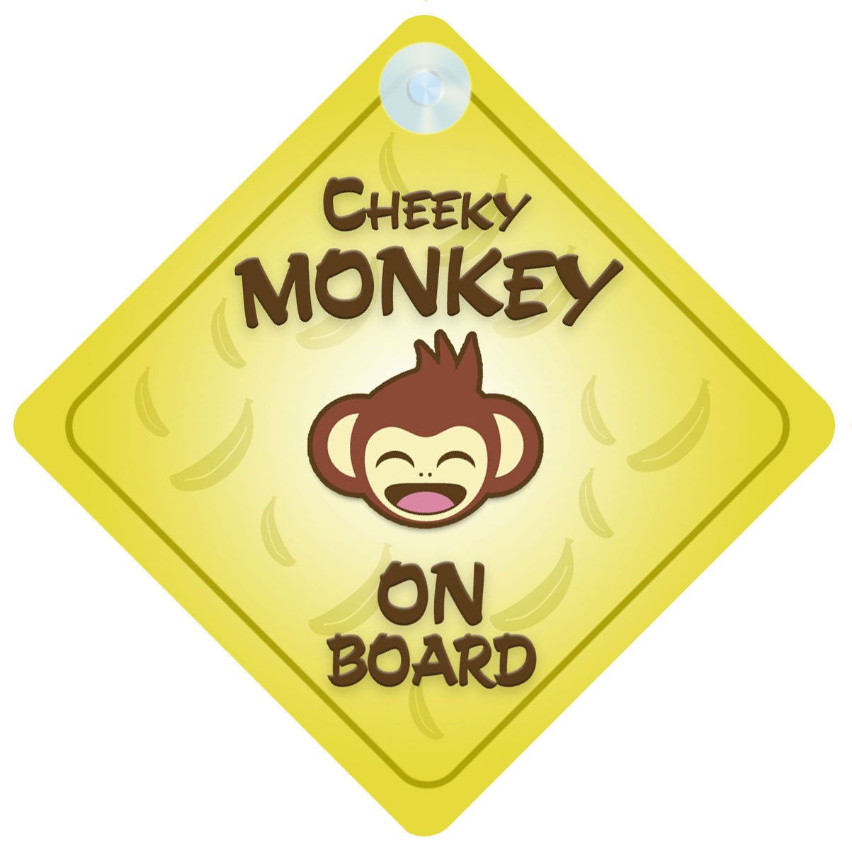 Cheeky/ Monkey On Board Car Sign Car New Baby/ by Child Gift/ Present/ Baby Shower Surprise by mybabyonboard UK B00IOS3OOY, ビィネットショップ:2c39857e --- ijpba.info