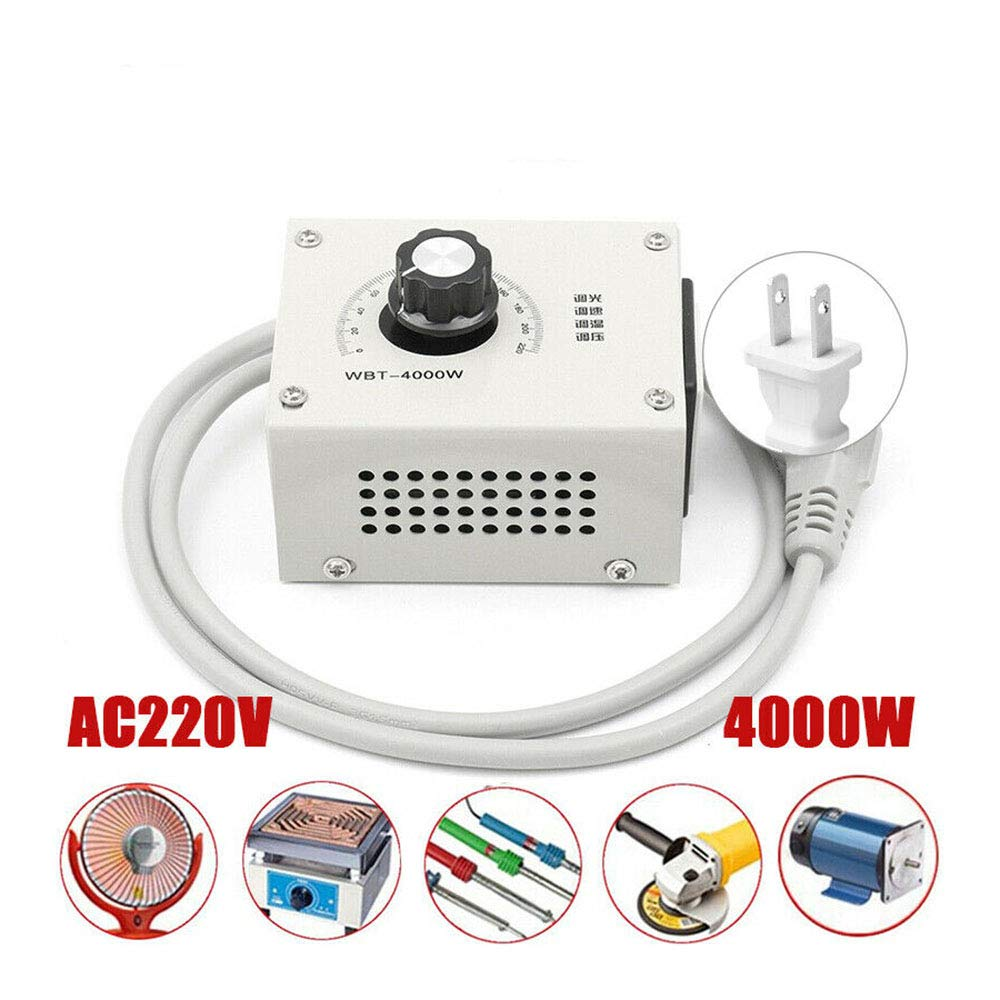 4000W AC 220V Variable Voltage Controller For Fan Speed Motor Control Dimmer US