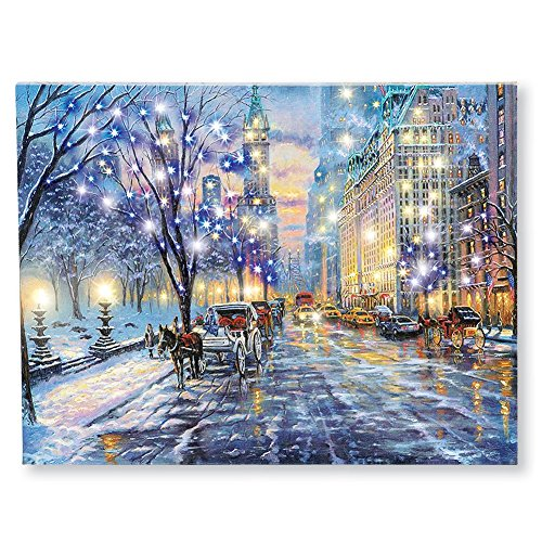 Lighted Central Park Canvas Wall Art
