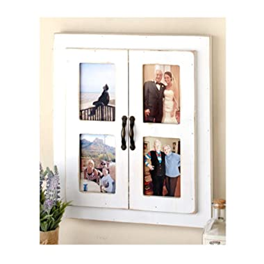 The Lakeside Collection Rustic Window Collage Frame-Antique White
