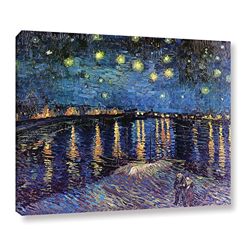 Artwall Starry Night over the Rhone by Vincent van Gogh Painting Print on Wrapped