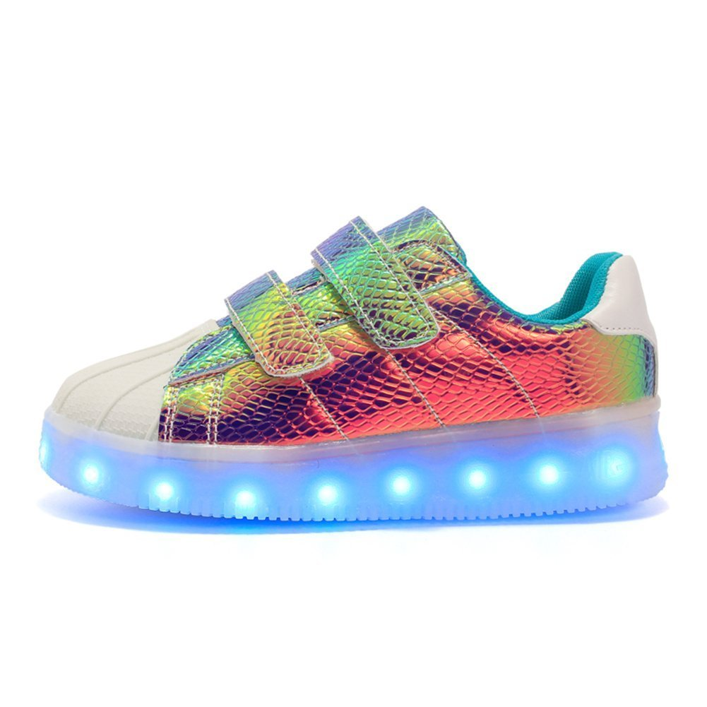 A5uyzbayu LED Light Shoes USB Children 's Shoes Boys and Girls Magic Board Shoes Sandals Shoes