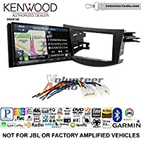 Volunteer Audio Kenwood DNX874S Double Din Radio Install Kit with GPS Navigation Apple CarPlay Android Auto Fits 2006-2012 Non Amplified Toyota RAV4