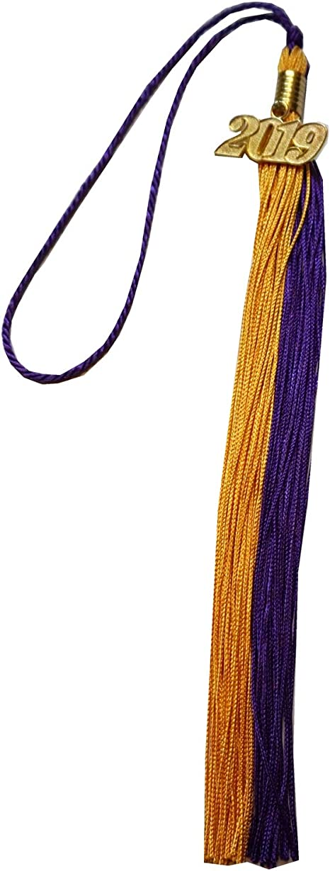 Purple//Gold Graduation Tassel with 2019 Year Charm Grad Days