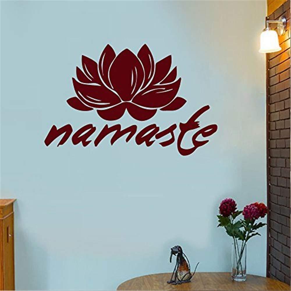 pegatinas de pared juveniles Namaste Tatuajes de pared Flor de ...