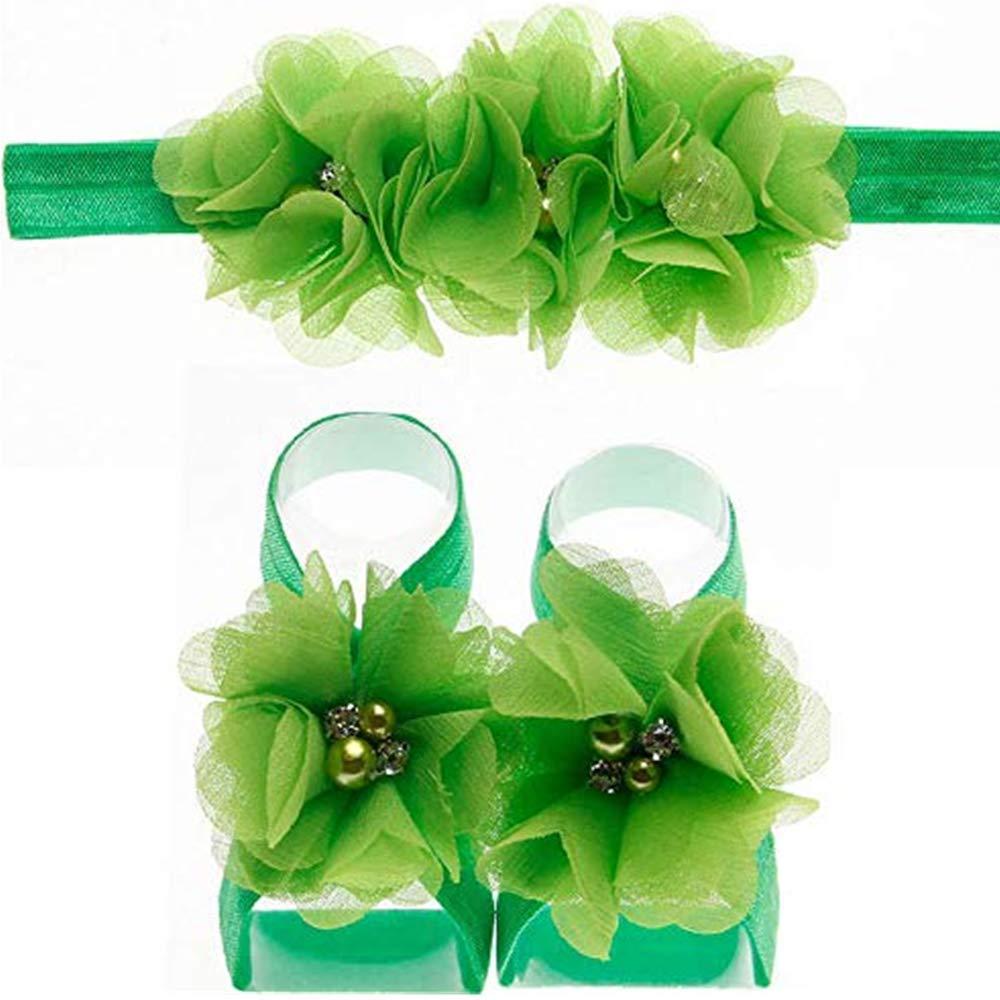 Amazon.com: NUWFOR Newborn Infant Baby Girls Headband Foot Flower ...