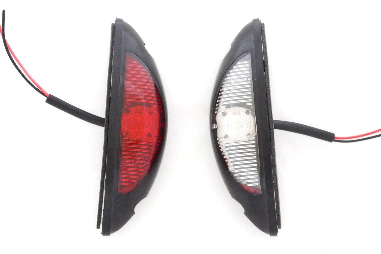 8/X LED double c/ôt/é vertical Feux de gabarit 12/V 24/V Marquage E Rouge Blanc pour 4/x 4/Offroad Remorque Camion camping-car caravane Ch/âssis