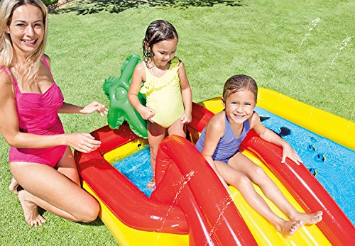 Intex Ocean Play Center Kids Inflatable Wading Pool + Quick Fill Air Pump by Intex (Image #4)