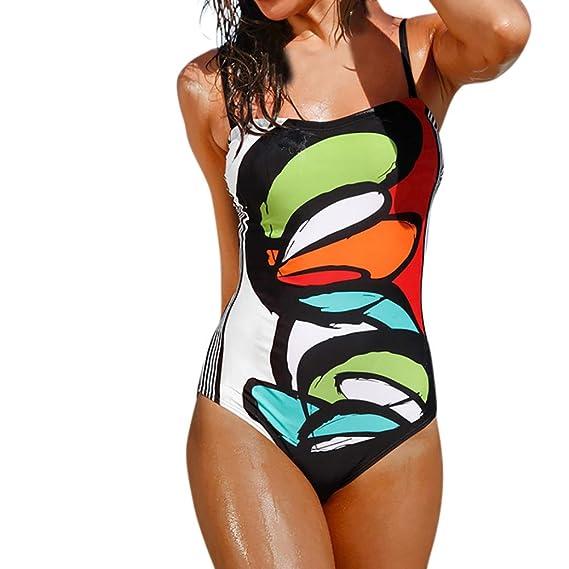 PAOLIAN Trajes de una Pieza Bikini Enteros Sexy Mujer Verano 2018 Ropa de Playa Bañador Espalda Nadador Camisolas y Pareos Cintura Alta Braguitas Sling ...