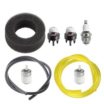 amazon com hipa tune up kit air filter for mtd bolens bl100 bl150 Walbro Fuel Filter hipa tune up kit air filter for mtd bolens bl100 bl150 bl250 bl410 yard man