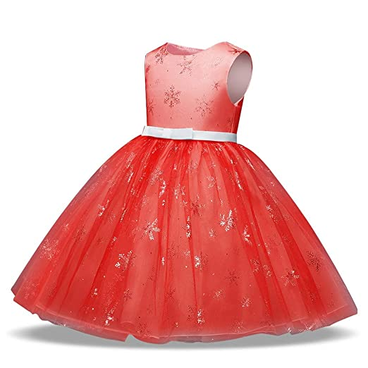 bc65dc225c1a Amazon.com  Fashion Snowflake Print Princess Dress