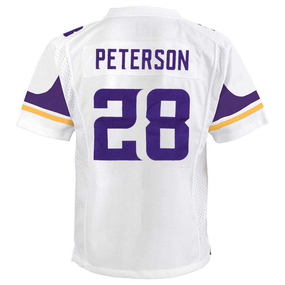huge discount cb066 26f9d Nike Adrian Peterson Minnesota Vikings Away White Game Jersey Youth (S-XL)