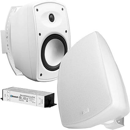 White OSD Audio AP525 Outdoor High Definition Patio Speaker Pair